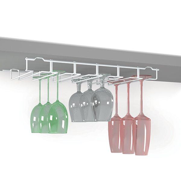 porte verres pied 18 places etag res et crochets de cuisine organisation de la cuisine. Black Bedroom Furniture Sets. Home Design Ideas