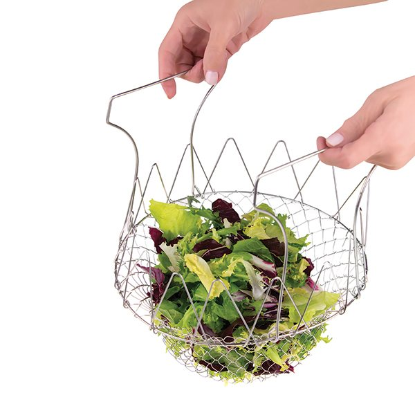 panier 224 salade pliable inox 23 cm essoreuses accessoires herbes et salade ustensiles de