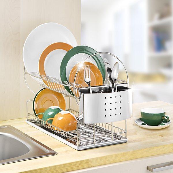 egouttoir vaisselle 2 niveaux wenko egouttoir vaisselle accessoires vier am nagement. Black Bedroom Furniture Sets. Home Design Ideas