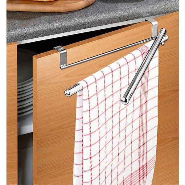 Porte Torchon Double Bras Mobiles Etagères Et Crochets De Cuisine - Porte torchon cuisine