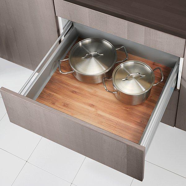 tapis fond de tiroir anti d rapant bambou rangement de placards et tiroirs organisation de. Black Bedroom Furniture Sets. Home Design Ideas