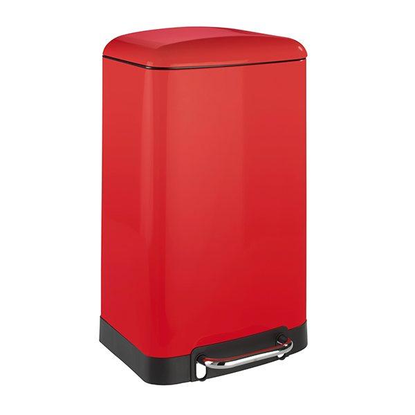 poubelle p dale easy close 30 l rouge poubelles de cuisine organisation de la cuisine. Black Bedroom Furniture Sets. Home Design Ideas