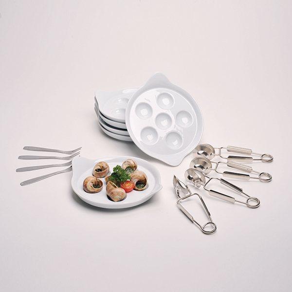 coffret escargots 4 personnes 12 pi ces lebrun vaisselle et service table art de la table. Black Bedroom Furniture Sets. Home Design Ideas