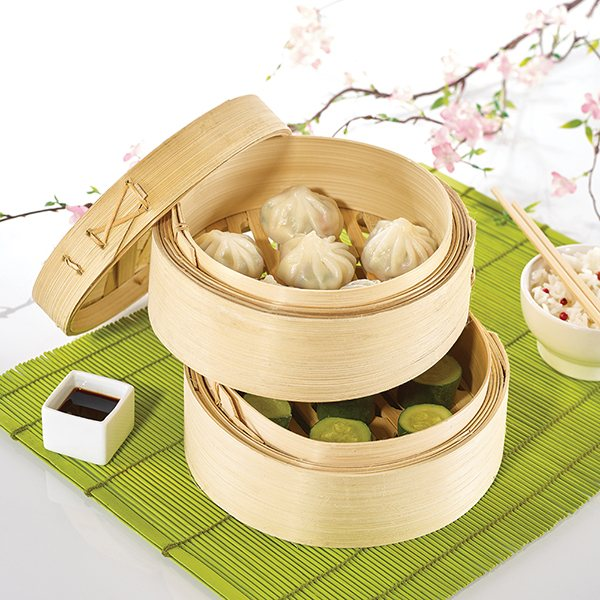 cuit vapeur 3 pi ces en bambou cuisson la vapeur mat riel de cuisson. Black Bedroom Furniture Sets. Home Design Ideas
