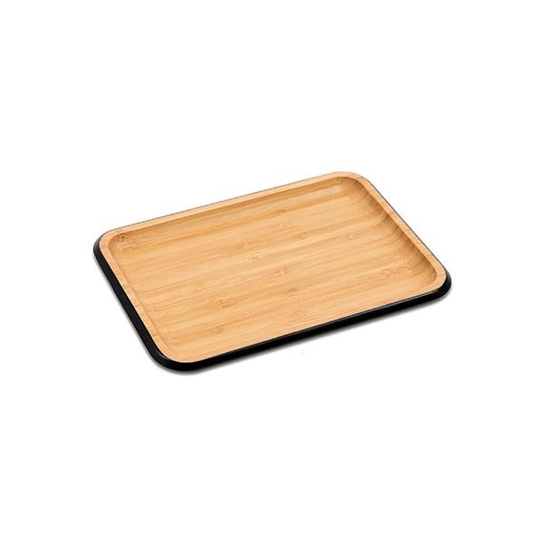 Plateau de service bambou rectangulaire 22 cm vaisselle for Plateau pour table de jardin