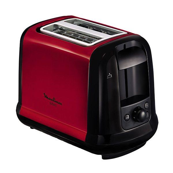 grille pain subito 2 tranches 850 w rouge lt260d11 moulinex grille pains toasters et machine. Black Bedroom Furniture Sets. Home Design Ideas