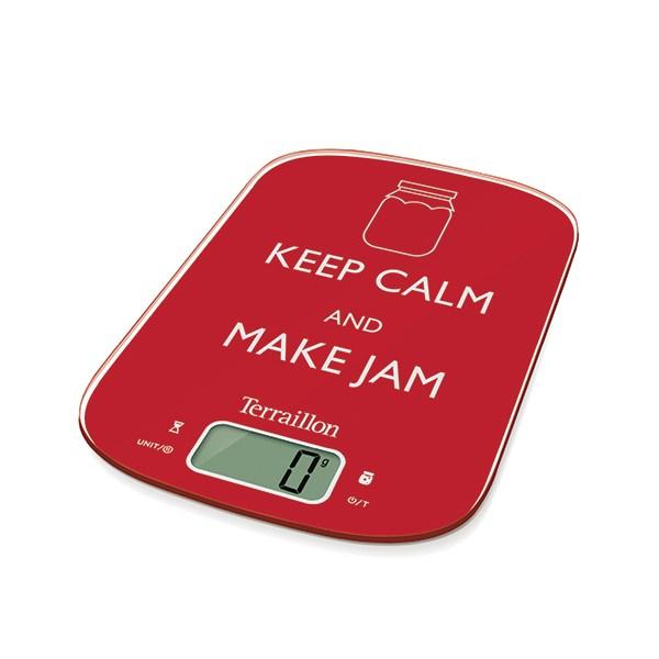 Balance neocook keep calm rouge 6 kg terraillon balances - Balance de cuisine rouge ...