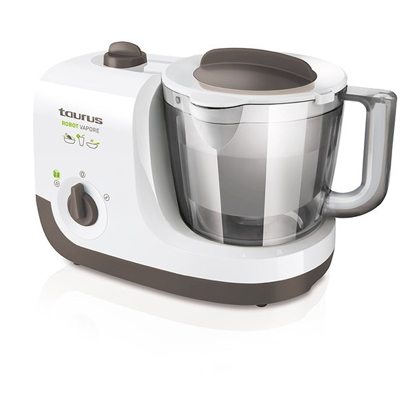 Robot cuiseur vapeur vapore taurus 925 white and brown for Robot de cuisine cuiseur