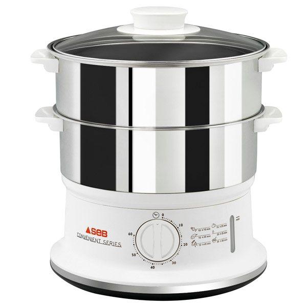 cuiseur vapeur 2 bols inox 6 l seb multicuiseurs et cuit. Black Bedroom Furniture Sets. Home Design Ideas