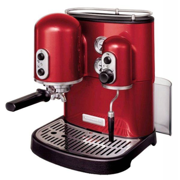 Machine caf espresso artisan rouge empire kitchenaid cafeti res lectriq - Machine a cafe expresso automatique ...