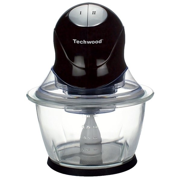 Mini-hachoir bol en verre 1 L THA-301 Techwood zoom