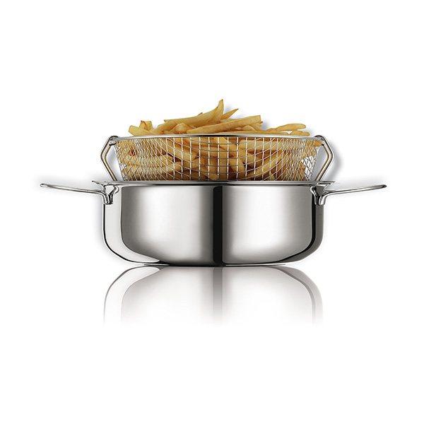 friteuse traditionnelle en inox avec panier 26 cm friteuses et po les friture mat riel de. Black Bedroom Furniture Sets. Home Design Ideas