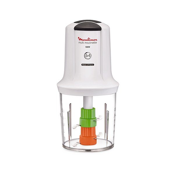 Multimoulinette Mini hachoir 5 en 1 blanc AT722110 Moulinex zoom