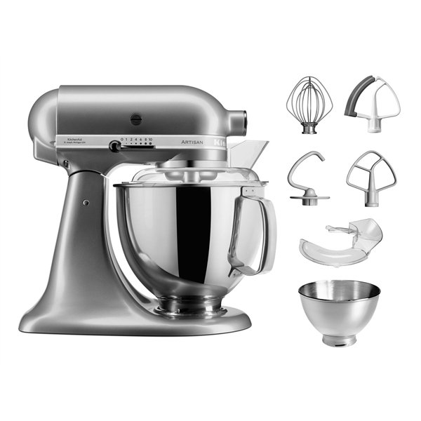 Robot artisan Gris argent 5KSM175PS Kitchenaid zoom