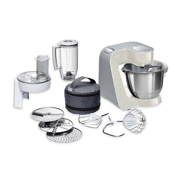 Robot multifonctions kitchen machine 1000 w gris bosch - Robot de cuisine bosch mum5 ...