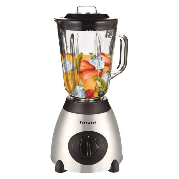 blender inox avec bol en verre 500 w 1 5 l techwood blenders et presse agrumes petit. Black Bedroom Furniture Sets. Home Design Ideas