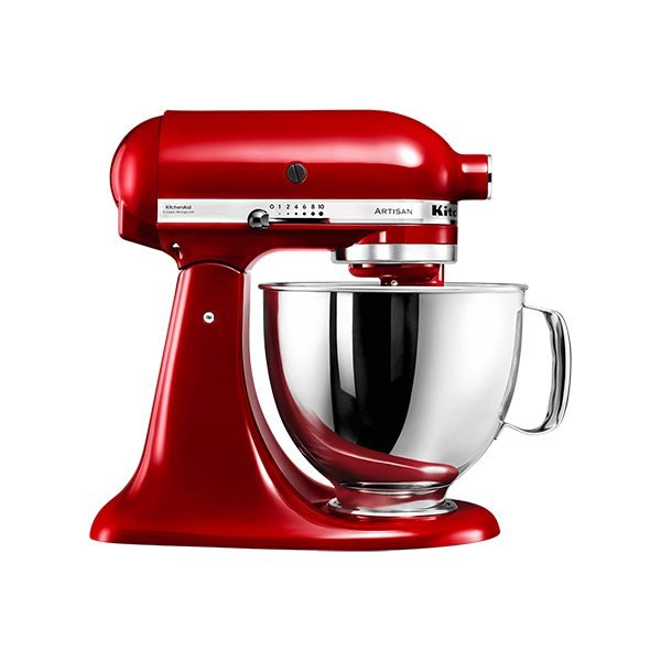 Robot pâtissier multifonction Artisan Rouge Empire 300 W 5KSM125EER Kitchenaid zoom