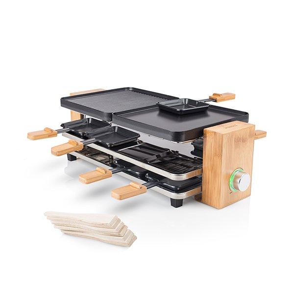 appareil raclette en bambou pour 8 personnes tristar raclettes fondues et cuisine. Black Bedroom Furniture Sets. Home Design Ideas