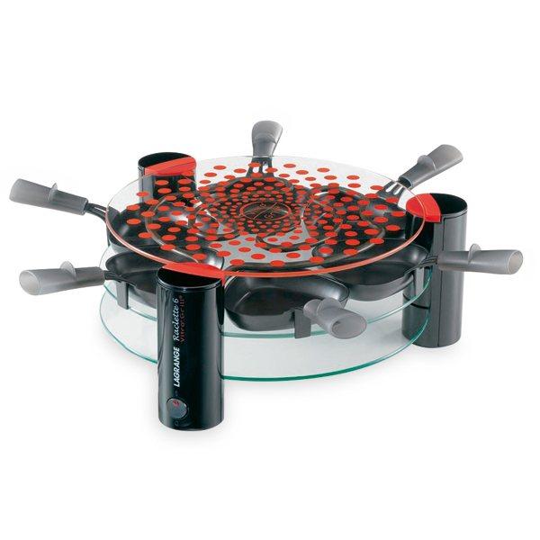 Appareil raclette grill transparent 6 personnes 009631 for Appareil cuisine conviviale