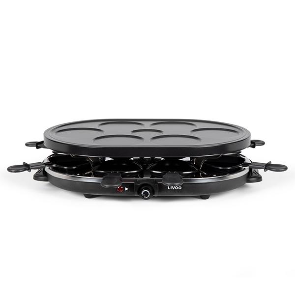 Appareil raclette et mini cr pes 1200 w domoclip - Appareil a raclette pour deux ...