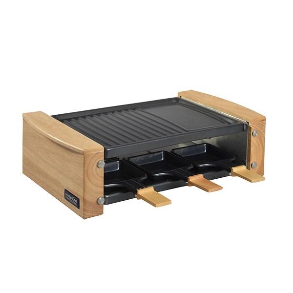 appareil raclette en bois 6 personnes 900 w kitchen chef professional raclettes fondues et. Black Bedroom Furniture Sets. Home Design Ideas