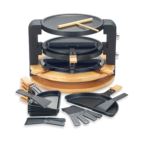 Raclette ronde multifonction 10 poêlons 1500 W Kitchen Chef Professional zoom