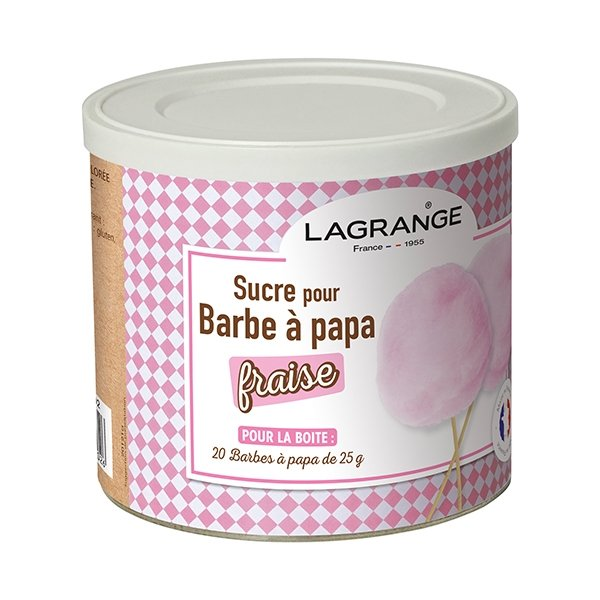 sucre barbe papa fraise 500 g 380007 lagrange. Black Bedroom Furniture Sets. Home Design Ideas