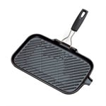 Grill rectangulaire manche pliable amovible