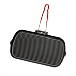 Grill rectangle manche amovible 37,5 cm