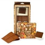 Coffret biscuits au chocolat de Noël rectangulaires