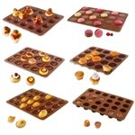 Lot de 6 Flexi'Plaques en silicone - Assortiment de mini-pâtisseries