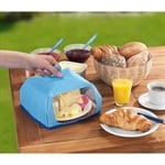 Cloche alimentaire isotherme petite taille bleu