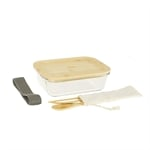 Lunch box avec 3 couverts bambou