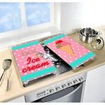 Set 2 couvre-plaques protection motif Ice Cream