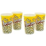 4 Gobelets à pop-corn 1,5L