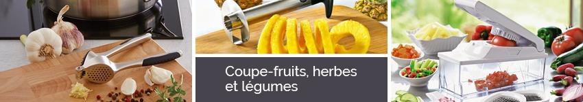 Coupe fruits herbes et l gumes couteaux et d coupe - Decoupe legumes coupe legumes oignons et fruits ...