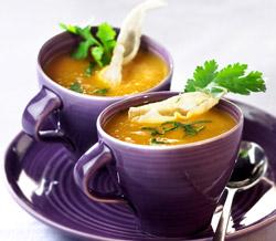 Soupe de courge au gingembre